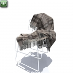 Chair with plaid