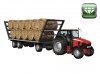 Tractor with bale trailer